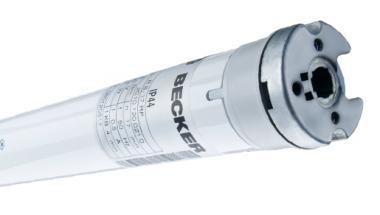 Becker Rohrantrieb R8/17RP mit elektronischer Endabschaltung (Ø 50mm)