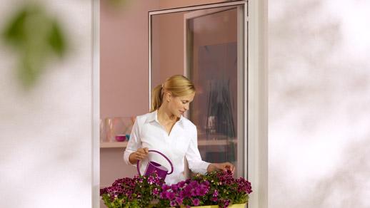 Drehrahmen - Insektenschutzgitter für Fenster