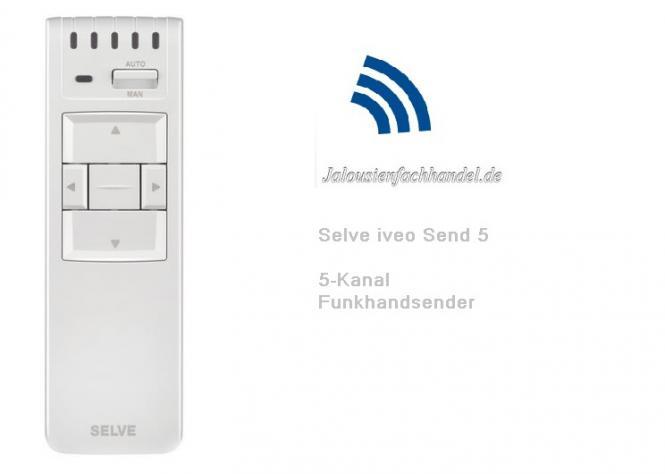 Selve IVEO Send 5-Kanal Funk Handsender, 298714