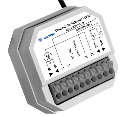 Funkempfänger Unterputz Centronic VarioControl VC420-II
